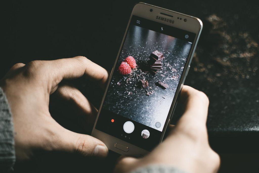 Foto maken van chocolade